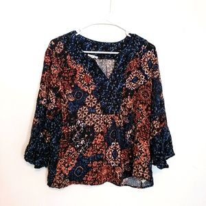 Tribal jeans soft rayon top